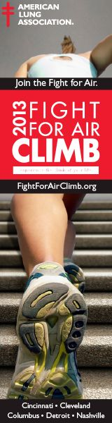 American Lung Association in Michigan, Ohio, Tennessee Fight For Air Climb Web Banner 160X600