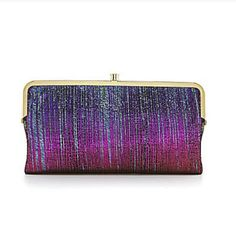 NWT HOBO INTERNATIONAL Iridescent Stripe Leather Lauren Clutch Wallet BRAND NEW in Clothing, Shoes & Accessories, Women's Accessories, Wallets | eBay