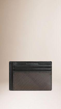Chocolate/black London Check Card Case - Image 1