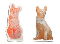 cats images on decorative pillows