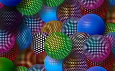 3D Neon Balls 2560x1600 for Samsung Galaxy Note Pro 12.2 wallpaper