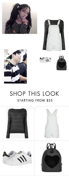 """Date with jimin"" by littlesweetheart123 ❤ liked on Polyvore featuring Vince, Topshop and adidas"