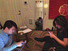 Dream Teamwork. @sarah_billings @pdxradioproject  #deepdream #deepdreamfilterapp #pdxradioproject #prp #pdxmusic #teamwork #sgcbus #supergroovycosmicbus #goodtimes #pplofpdx by sgcbus
