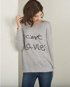 Jersey de mujer Sfera con mensaje en gris (24)