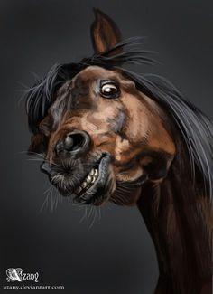 Horse #8 by Azany.deviantart.com on @deviantART Horse Artwork, Beautiful Horses, Pretty Horses, Horse Love, Horse Photography, Horse Pictures, Animal Paintings, Horse Paintings, Illustration