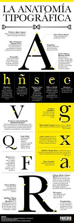 La anatomía tipográf