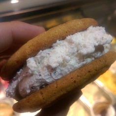 Gelato sandwich from @pazzogelato at @Figat7th #dtla #gelato  #foodie #foodporn #icecreamporn  #forkyeah  #dessert  #sweet #chocolatechip  #chocolate #nom #delicious #cookies #like #love #follow #eat #eeeeeats  #foodiegram  #foodgasm  #eatla #dinela  #california #icecream  #gelato
