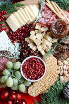 Sweet and Spicy Cranberry Salsa for the perfect holiday cheese board.