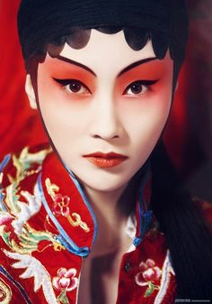 Chinese opera actress with traditional make-up
