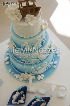 torta nuziale tema mare more mare con nuziale tema tortas nuziale ...