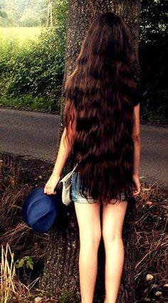 I want to grow my hair out this long but I have naturally curly hair so I don't know how my hair would look if it got to be this long