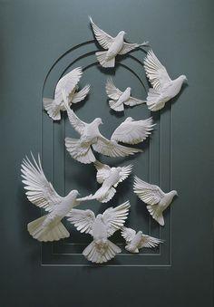 Beautiful Paper Sculptures by Calvin Nicholls #Art