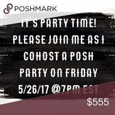 🎉🎉Cohosting Posh Party on 5/26/17🎉🎉 Please join me as I Cohost another fabulous posh party! Although it's a while away, I am beginning to search for awesome posh compliant closets for host picks. I'm so excited! robynbyrd fashions Accessories