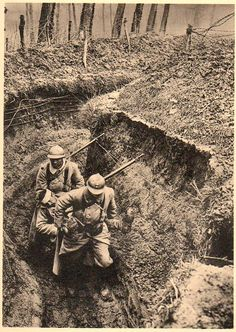 World War I French troops, 1917.