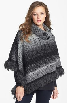 Tarnish Chunky Knit Poncho available at #Nordstrom