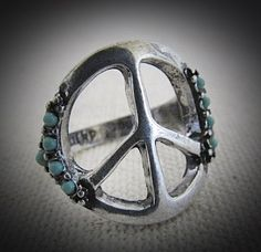 Hippie Lover Peace sign ring
