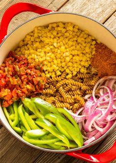 One Pot Wonder Southwest Pasta. This stuff literally takes 20 min and tastes awesome