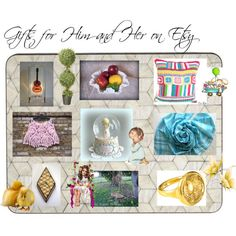 Gifts for Him and Her on Etsy by afloralaffair-1 on Polyvore featuring interior, interiors, interior design, home, home decor, interior decorating, Fenton, National Tree Company, Precious Moments and Bebe