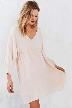 Summer Bridesmaid Dress Perfection- Little White Lies Cici Long-Sleeve Babydoll Dress