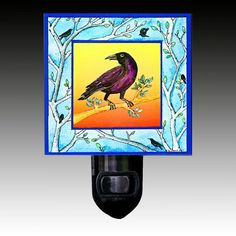 Crow Night Light by PaperScissorsRock on Etsy