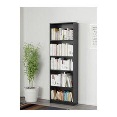 """FINNBY Bookcase - black - IKEA. Width: 23 5/8 """" Depth: 9 1/2 """" Height: 70 7/8 """" Max load/shelf: 29 lb $39"""