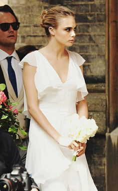 Style Inspiration : Poppy Delevingne & a Custom Chanel Haute Couture Wedding Gown by {this is glamorous}, via Flickr
