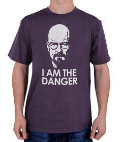 """Dieses StyloTex Herren T-Shirt mit der Aufschrift """"I am the danger"""" ist ein Muss und ein tolles Geschenk für jeden Heisenberg Fan! aus 100% Baumwolle."""
