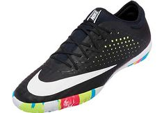Nike MercurialX Finale Street Indoor Shoes - Black and Volt