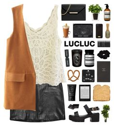 """""""LucLuc 3"""" by novalikarida ❤ liked on Polyvore featuring Vanessa Bruno, MICHAEL Michael Kors, Boskke, Nearly Natural, Aesop, NARS Cosmetics, The Body Shop, Henri Bendel, Chanel and Topshop"""