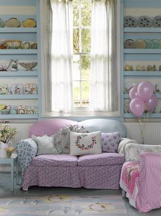 vintage pastels living room - Selina Lakes new book