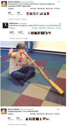 Teach me, Master Irwin. I would like to learn the breathing technique and path of the didgeridoo. << its not that hard when youre Australian its like you were born with the skills to play haha 5sos Tweets, 5sos Memes, 5sos Funny, Gemma Styles, Bae, Calum Thomas Hood, 5secondsofsummer, All Family, 1d And 5sos
