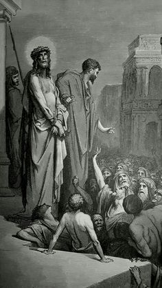 Phillip Medhurst presents detail 221/241 Gustave Doré Bible Christ Presented to the People John 19:15