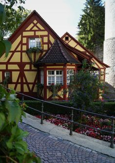 Lovely timber house in Meersburg, southern Germany (by LenDog64).