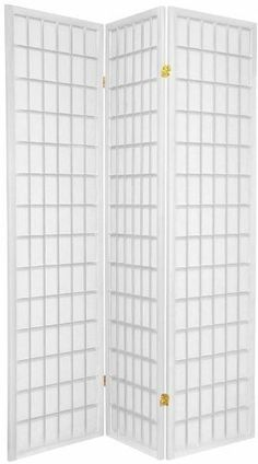 """3-panels Shoji Screen Room Divider, White 71""""h X 54"""" W by Legacy Decor. $35.73. Measurement: 70"""" high X 54"""" wide open X 1"""" deep. Japanese- oriental style. Made of pine wood and veneer and white shoji rice paper like. 3 panels folding screen with 2-way hinges for more flexible stand and position.. White Finish. The Shoji room dividers are traditional Asian style screens made from translucent paper and a folding, multi-paneled, lattice-style wooden frame. Offered by Best ..."""