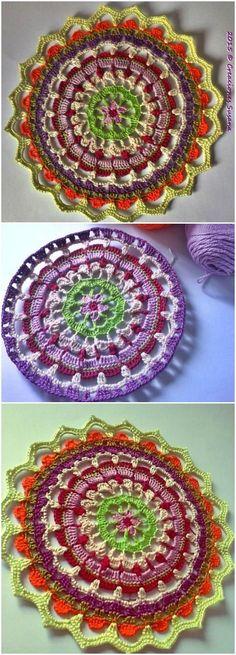 Crochet Petalos Mandala - 60+ Free Crochet Mandala Patterns - Page 3 of 12 - DIY & Crafts
