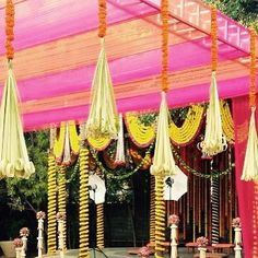 Mix of traditional & colorful touch to Wedding Decor by 3Production Weddings