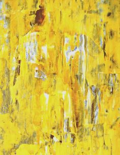 Acrylic Abstract Art Painting Yellow, White, Brown, Grey - Modern, Contemporary, Original 11 x 14