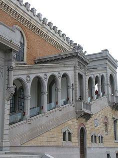Detalhe do Palácio das Indústrias no Parque Dom Pedro II.