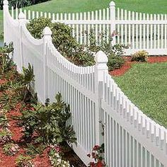 The Sacramento scalloped vinyl picket fence is a beautiful option to enhance any landscape. View many vinyl picket fence panels online.
