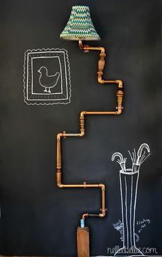 Anthropologie Inspired Pipe Lamp   ♪ ♪ ... #inspiration #diy GB http://www.pinterest.com/gigibrazil/boards/
