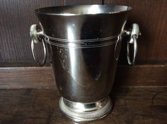 Vintage French small ice bucket champagne bar deco circa 1970's Purchase in store here http://www.europeanvintageemporium.com/product/vintage-french-small-ice-bucket-champagne-bar-deco-circa-1970s/