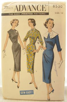 1960s Wiggle Dress Advance 8530 Easy Sew Dress by EmSewCrazy, $15.00
