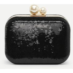 SheIn(sheinside) Kiss Lock Chain Clutch Bag ( 20) ❤ liked on Polyvore  featuring bags 0aef2db557cef