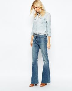 JEAN COLOR THAT I AM TALKING ABOUT. Levis High Rise Flare Jeans