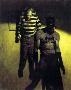 pencil drawings - Batman Legends of The Dark Knight 168 cover by Phil Hale Comic Book Characters, Comic Books Art, Comic Art, Illustration Batman, Dc Comics Art, Arte Horror, Batman Art, Traditional Paintings, Dark Knight