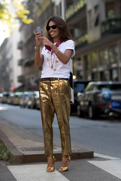 Love these gold pants!