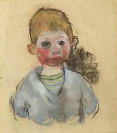 Joan Eardley - The Pale Blue Jersey, c.1960, W:23cm H:26cm