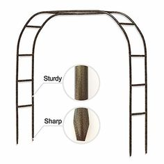 Metal Garden High x Wide Sturdy Metal Arbor with Sharp Ends for Climbing Vines and Plants,Weddings Quinceaneras Party Decoration Delphinium Plant, Bougainvillea Tree, Outdoor Gardens, Indoor Outdoor, Metal Arbor, Potato Vines, Climbing Vines, Flowering Vines, High