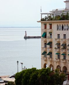 Thessaloniki balconies Southern Europe, Crete Greece, Ocean Themes, Neoclassical, Macedonia, Amazing Destinations, Travel Around, Athens, Balcony
