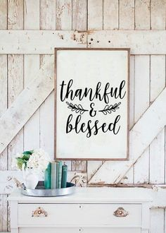Thankful and Blessed Farmhouse SVG Cut File Cricut Silhouette